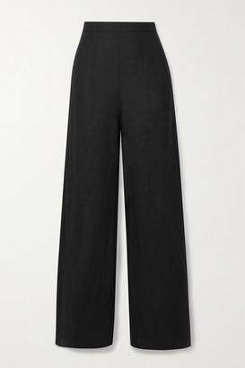 Faithfull The Brand + Net Sustain Sibyl Linen Wide-leg Pants - Black