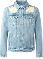 MSGM shredded trim denim jacket - men - Cotton - 50