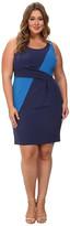 Mynt 1792 Plus Size Box Pleat Sheath Dress
