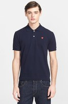 Comme des Garcons Men's Cotton Pique Polo