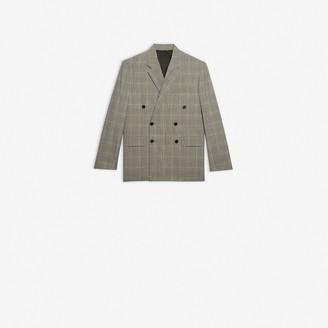 Balenciaga Boxy Small Fit Double Breasted Jacket