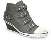 "Ash Genial"" Stone (Grey) Leather Wedge High Top Sneaker"