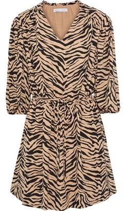 Rebecca Minkoff Isabella Tiger-print Crepe Mini Dress
