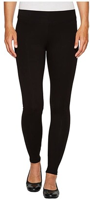 Hue Ultra Skimmer with Wide Waistband (Black) Women's Casual Pants
