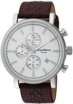 Tommy Bahama Men's Quartz Stainless Steel and Leather Casual Watch, Color:Brown (Model: TB00003-03)
