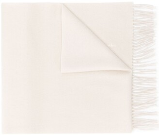 MACKINTOSH Oatmeal Cashmere Embroidered Scarf | ACC-013/E