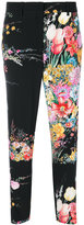 No.21 floral cropped trousers - women - Silk/Acetate - 38