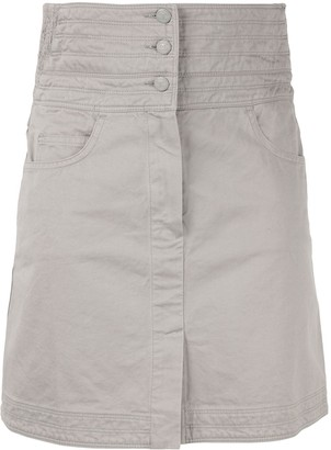 Chanel Pre-Owned CC button high waist skirt