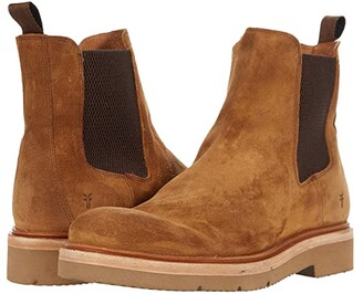Frye Bowery Light Chelsea (Tan Oiled Suede) Men's Shoes