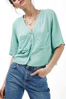 Topshop 'Holly' Short Sleeve V-Neck Shirt