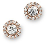 Bloomingdale's Diamond Halo Studs in 14K Rose Gold, .30 ct. t.w. - 100% Exclusive