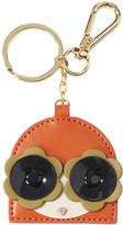 Orla Kiely Applique Face Keyring - Orange