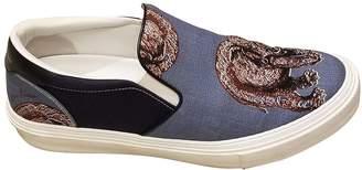 Louis Vuitton Blue Cloth Flats