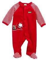Little Me Infant Boy's Santa Velour Footie