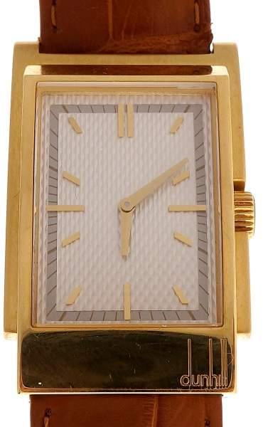 Dunhill 18K Yellow Gold Quartz 26.13mm Mens Watch