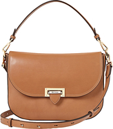 Aspinal of London Letterbox Leather Slouchy Saddle Bag, Tan