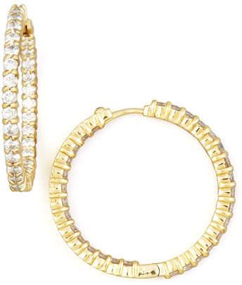 Roberto Coin 30mm Yellow Gold Diamond Hoop Earrings, 2.84ct