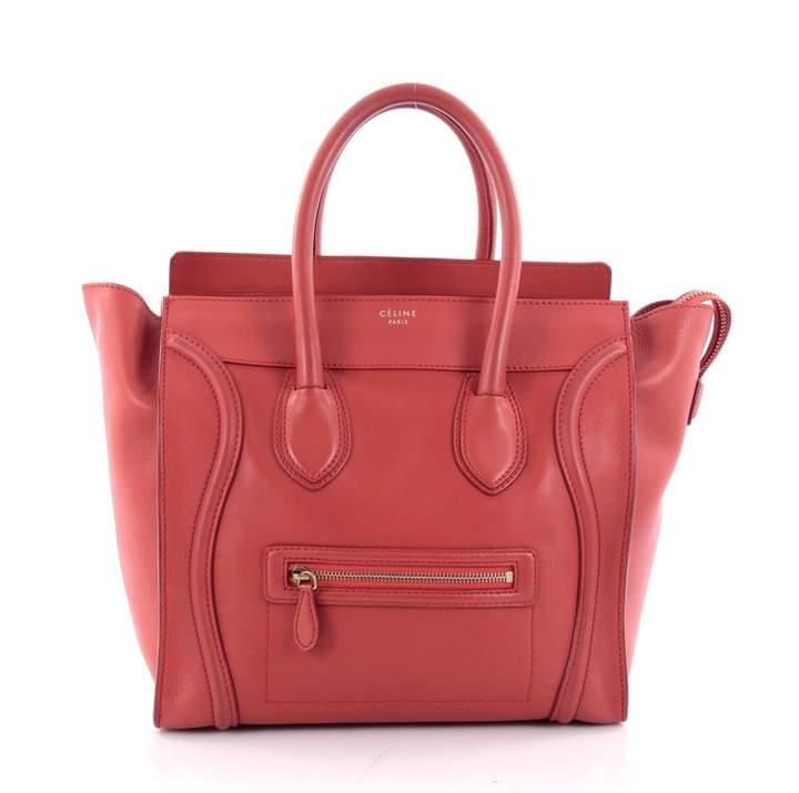 Celine Red Leather Handbag