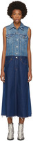 MM6 MAISON MARGIELA Blue Sleeveless Denim Dress