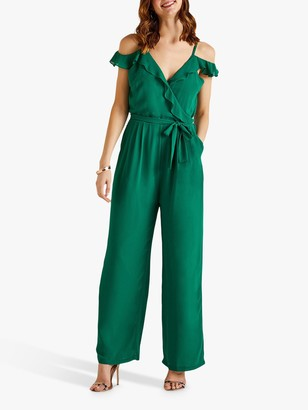 Yumi Cold Shoulder Frill Jumpsuit