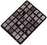 Cakaco_Nail Art Nail Stamping Printing Plate Manicure Nail Cakaco Decor Image Stamps Plate XY-15