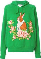Gucci Rabbit needlepoint hoodie - women - Cotton - S