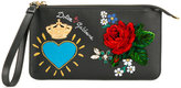 Dolce & Gabbana print and appliqué clutch bag