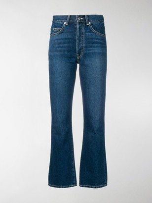 Eve Denim Jane cropped flared jeans