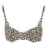 Solid & Striped Eva Leopard-Print Bikini Top