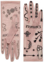 Gucci Tulle gloves with symbols embroidery