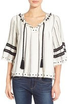 Tularosa Women's Embellished Woven Top