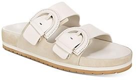 Vince Women's Glyn Double-Buckle Slide Sandals