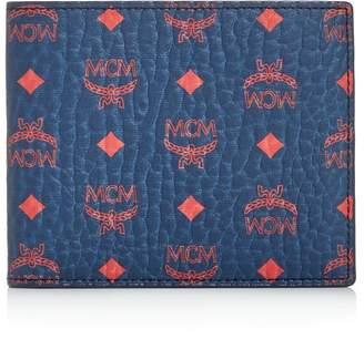 MCM Visetos Original Flat Bi-Fold Wallet