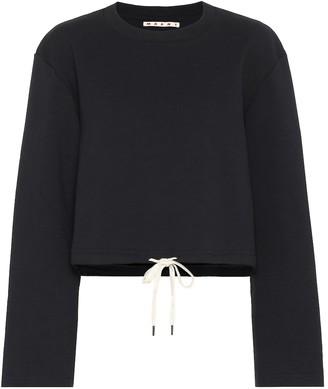 Marni Cropped cotton sweatshirt