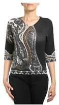 Etro Women's Black Silk T-shirt.