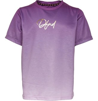 DFND London Girls Thunder T-Shirt Black/Purple