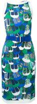 DSQUARED2 printed dress - women - Viscose/Spandex/Elastane/Calf Leather - M