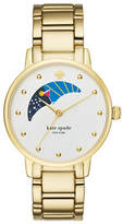 Kate Spade New York Gramercy Moon Phase Dial Goldtone Bracelet Watch