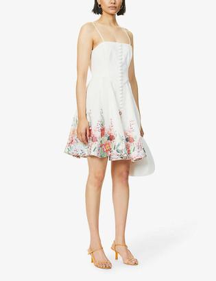 Zimmermann Floral-print linen mini dress