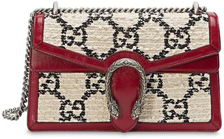 Gucci Small Dionysus Gg Cotton Blend Tweed Bag