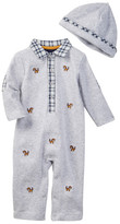 Little Me Tiny Tigers Romper & Hat Set (Baby Boys)