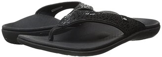 Spenco Cheetah Print (Black) Women's Sandals