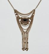 Reclaimed Vintage Inspired Boho Drop Necklace