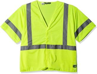 Berne Men's Big and Tall Hi-Visibility Short Sleeve Vest