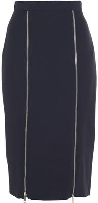 Alexander McQueen Zip-detailed Crepe Pencil Skirt