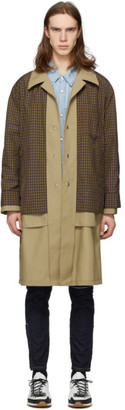 Solid Homme Beige Layered Coat