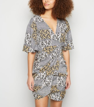 New Look Urban Bliss Floral Animal Print Tulip Dress