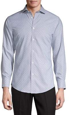 Black & Brown Black Brown Dotted Shirt