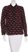 Kate Spade Graphic Print Button-Up Top