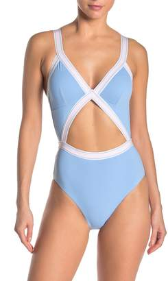Dolce Vita Fast Lane Stripe Banded One-Piece Swimsuit